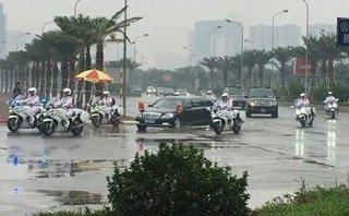 Mới- nóng - Clip: Đoàn xe của ông Tập Cận Bình di chuyển về khách sạn Marriott