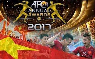 Lập kỷ lục, bóng đá Việt Nam nhận 2 đề cử giải thưởng 2017 của AFC