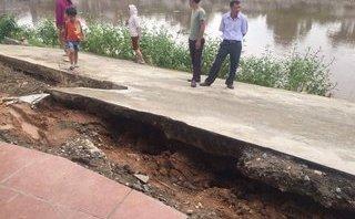 Môi trường - Hà Nội: Đường bê tông bị rạn nứt, sụt lún rất nghiêm trọng
