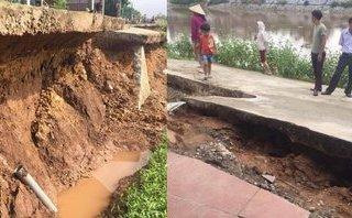 Môi trường - Đơn vị thi công nói về việc con đường bị rạn nứt, sạt lở nghiêm trọng