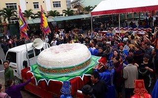 Xã hội - TP.Sầm Sơn xin dâng bánh dày kỷ lục nặng hơn 3 tấn tại Đền Hùng