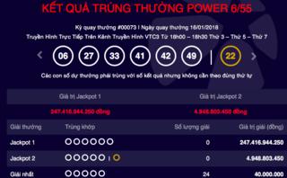 Tiêu dùng & Dư luận - Kết quả xổ số Vietlott ngày 16/1: Jackpot 247 tỷ đồng chờ chủ nhân