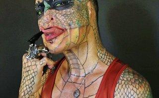 Cộng đồng mạng - Người phụ nữ 'trùng tu' lại toàn bộ cơ thể để giống rồng