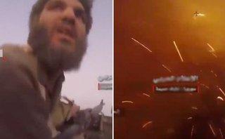 Quân sự - Cận cảnh binh lính IS bị xe tăng Syria truy đuổi và tiêu diệt