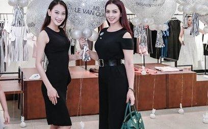 Giải trí - Á hậu Vân Quỳnh bất ngờ tái xuất, 'đọ sắc' bên siêu mẫu Thúy Hằng