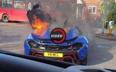 Xe++ - McLaren P1 'độc nhất vô nhị' tại Anh bốc cháy ngùn ngụt trên đường