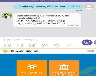 Truyền thông - VIB giới thiệu tính năng chuyển tiền nhanh khi chat trên mạng XH