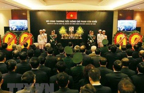 Chính trị - Cử hành Lễ truy điệu và an táng nguyên Thủ tướng Phan Văn Khải