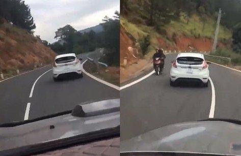 Xa lộ - Clip: Thót tim cảnh ô tô 'đảo như rang lạc' trên đèo Tà Nung