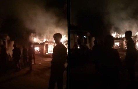 Xã hội - Nghịch tử dùng xăng đốt nhà: Cầm dao 'nhảy múa' khi người dân chữa cháy