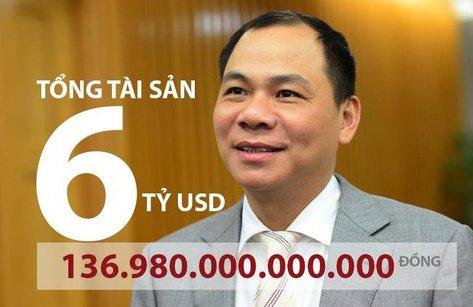 Tiêu dùng & Dư luận - Cầm 6 tỷ USD trong tay, tỷ phú Phạm Nhật Vượng có 'tiền cao hơn núi'