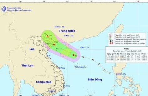 Chính trị - Xã hội - Áp thấp nhiệt đới tiến thẳng vào Quảng Ninh-Hải Phòng, Bắc Bộ mưa dông