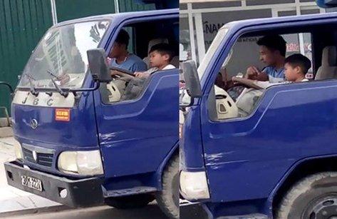 Tin nhanh - Mức phạt cho tài xế để bé trai 10 tuổi điều khiển xe tải