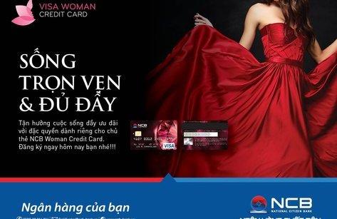 Kinh doanh - Mua sắm thỏa mái với thẻ tín dụng NCB Visa Woman credit card