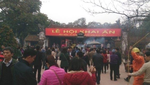 Xã hội - Đền Trần Nam Định khai ấn đêm 14 tháng Giêng