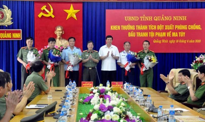 Quảng Ninh: Thưởng nóng cho các đơn vị triệt phá đường dây vận chuyển ma túy số lượng lớn