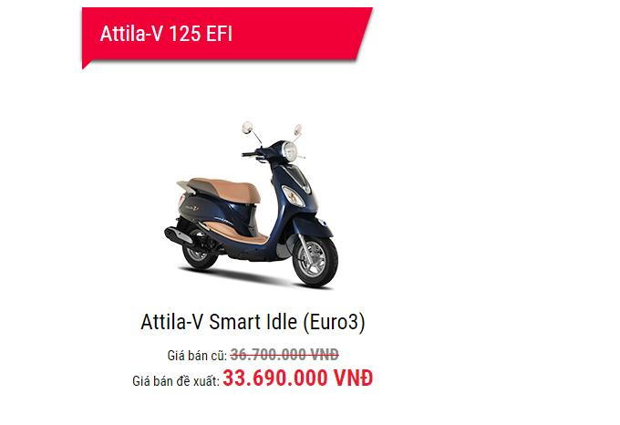 Bảng giá xe - Bảng giá xe máy SYM tháng 1/2018: Mua Attila Elizabeth tặng 2,5 triệu đồng (Hình 7).