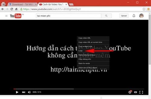 Thủ thuật - Tiện ích - Thủ thuật tự động phát lại video trên YouTube