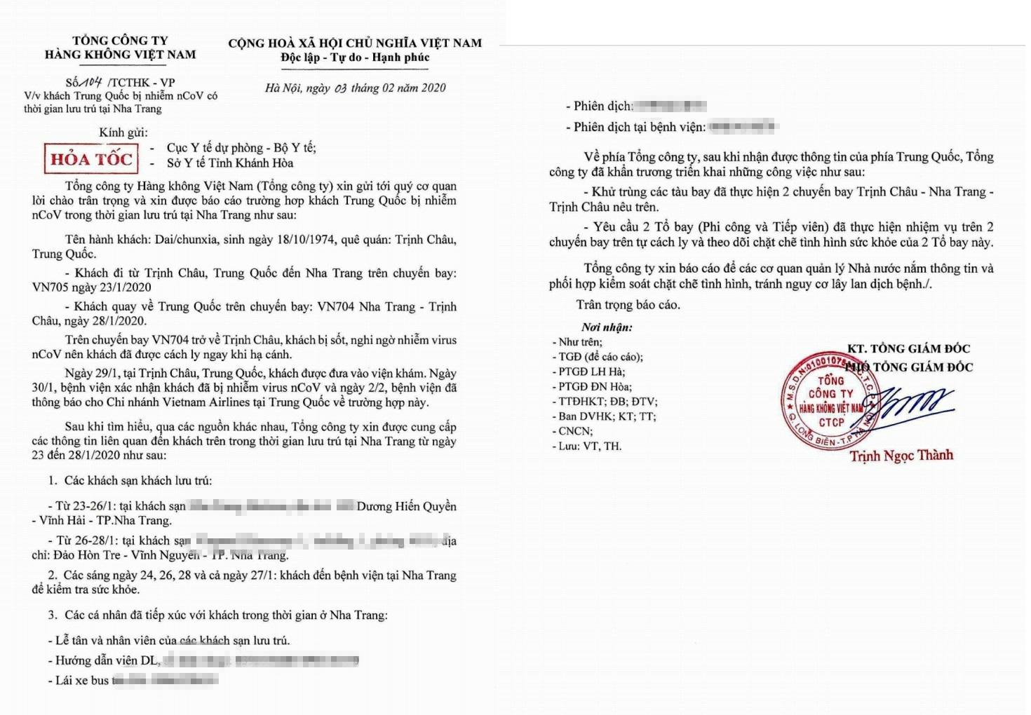 Một khách Trung Quốc nhiễm virus Corona có thời gian lưu trú ở nhiều khách sạn