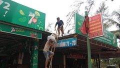 Tin nhanh - Nghệ An: Người dân hối hả gia cố nhà cửa chống bão số 3