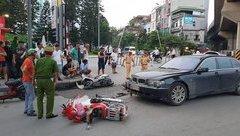 Tin nhanh - Nữ tài xế lái BMW gây tai nạn liên hoàn, ít nhất 2 cháu bé bị thương