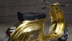 Thú chơi xe - Xe Vespa dát 500 tấm vàng lá xa xỉ nhất thế giới