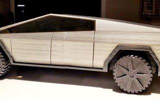 Thú chơi xe - Không đợi được chính hãng, người hâm mộ đã in 3D bán tải Tesla Cybertruck cho riêng mình
