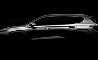 Thị trường xe - Hình ảnh đầu tiên của Hyundai SantaFe 2019 sắp ra mắt