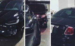 Video xe - Dàn xế khủng 'đen tuyền' của thiếu gia chơi siêu xe khét tiếng đất Hà thành