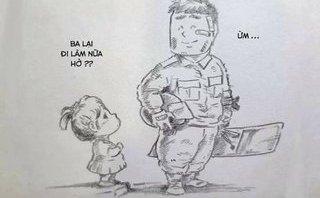 Thư không gửi - Thư chiến sĩ cảnh sát cơ động gửi con gái lớp ba