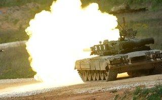 """Quân sự - Nga cải tiến """"xe tăng phản lực"""" T-80BVM đưa tới Bắc Cực"""