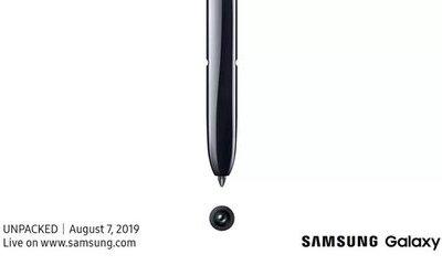 Samsung hé lộ ngày ra mắt bom tấn Galaxy Note 10