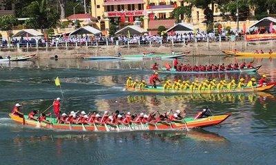 Văn hoá - Náo nhiệt Lễ hội đua thuyền mừng xuân Canh Tý tại Bình Thuận