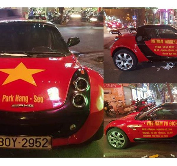 Xế độc Smart Roadster dán decal